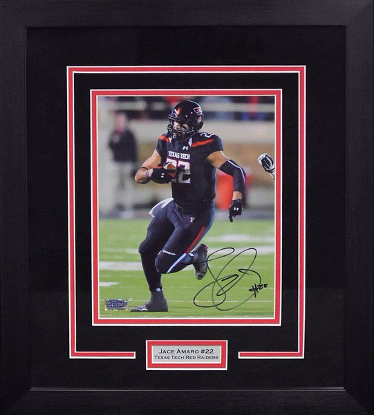Jace Amaro Autographed Texas Tech Red Raiders 8x10 Framed Photograph (Solo)