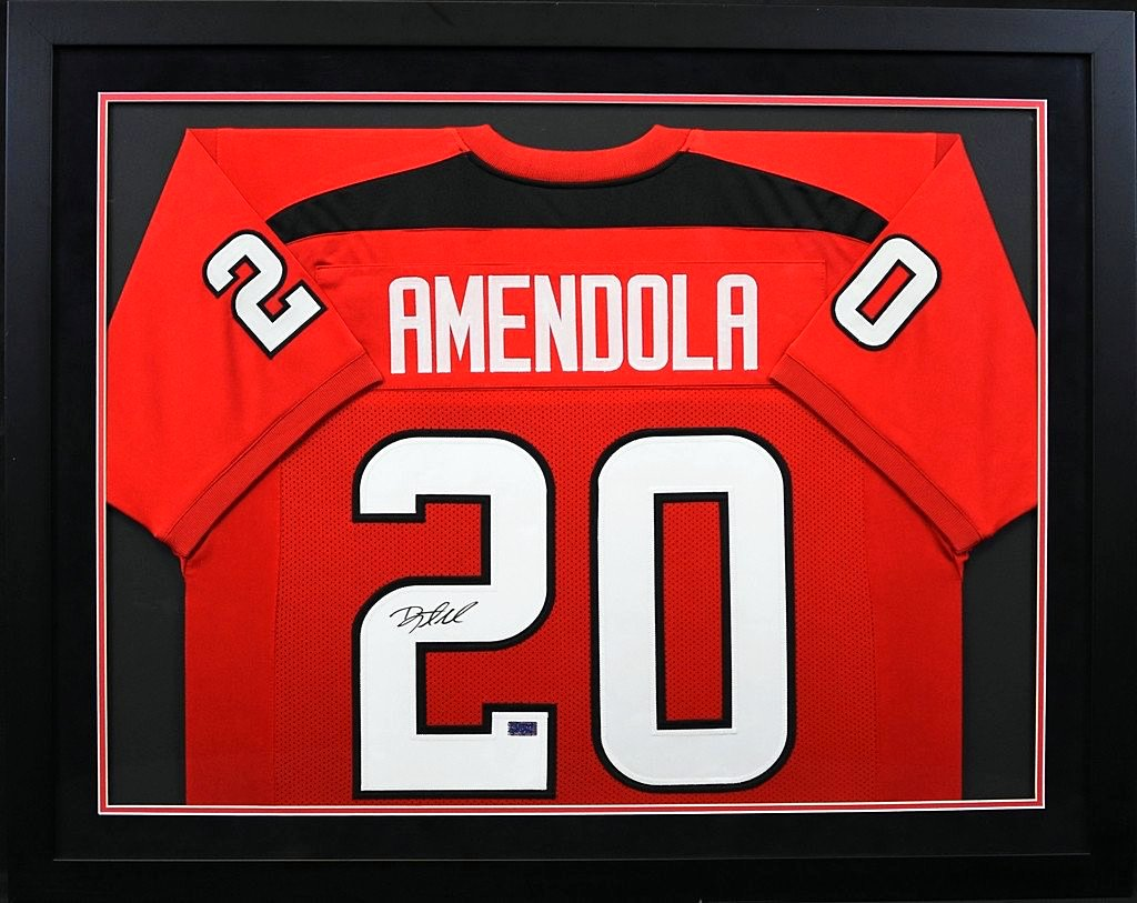 best service c5e45 040b1 Danny Amendola Autographed Texas Tech Red Raiders #20 Framed Jersey