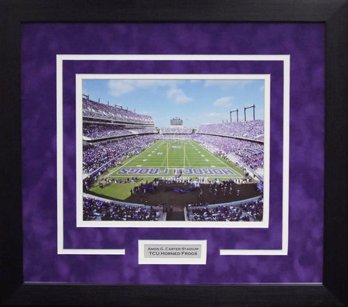 TCU Horned Frogs Amon G Carter Stadium 8x10 Framed Photograph (Endzone)