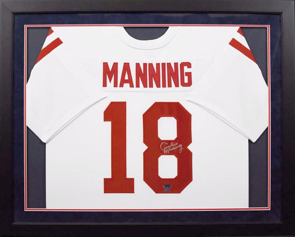 Archie Manning Autographed Ole Miss Rebels #18 Framed Jersey - White