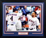 Jose Altuve & George Springer Autographed Houston Astros 16x20 Framed Photograph