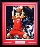Cameron Bairstow Autographed New Mexico Lobos 16x20 Framed Photograph