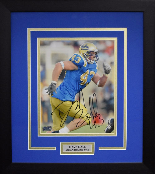 Dave Ball Autographed UCLA Bruins 8x10 Framed Photograph