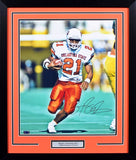 Barry Sanders Autographed Oklahoma State Cowboys 16x20 Framed Photograph (Running)