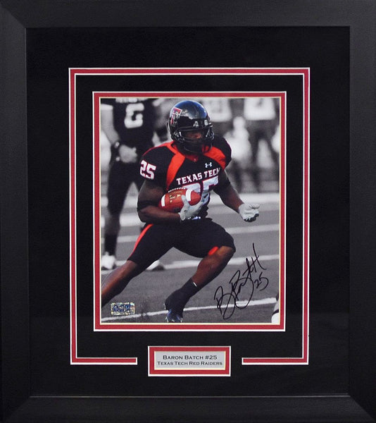 Baron Batch Autographed Texas Tech Red Raiders 8x10 Framed Photograph