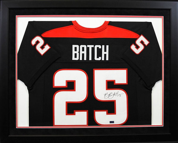 Baron Batch Autographed Texas Tech Red Raiders #25 Framed Jersey
