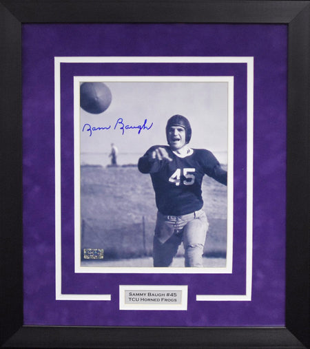 Gary Patterson Autographed TCU Horned Frogs 8x10 Framed Photograph (Smoke)