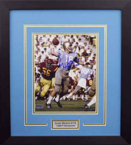 Gary Beban Autographed UCLA Bruins 8x10 Framed Photograph (vs USC)