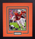 Tatum Bell Autographed Oklahoma State Cowboys 8x10 Framed Photograph (vs Aggies)