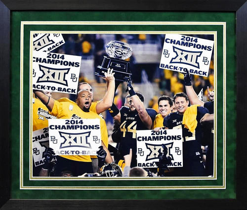 Baylor Bears 2014 Big XII Champions 16x20 Framed Photograph