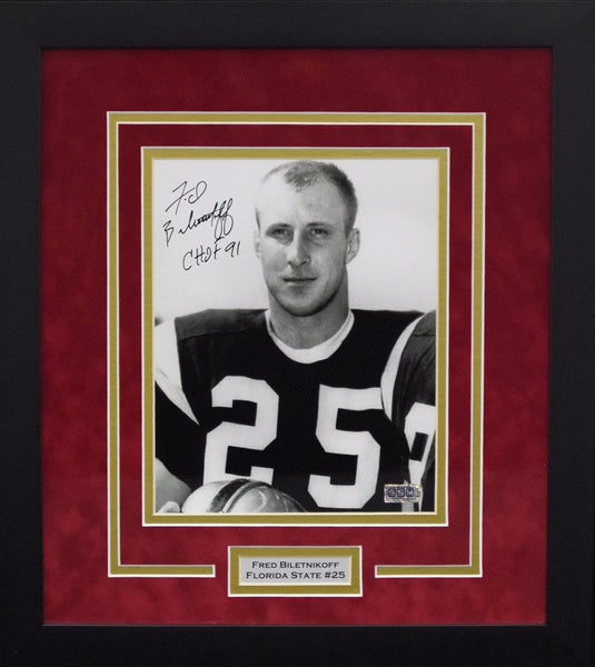 Fred Biletnikoff Autographed Florida State Seminoles 8x10 Framed Photograph