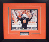 Justin Blackmon Autographed Oklahoma State Cowboys 8x10 Framed Photograph (Solo)