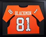 Justin Blackmon Autographed Oklahoma State Cowboys #81 Framed Jersey (Orange)