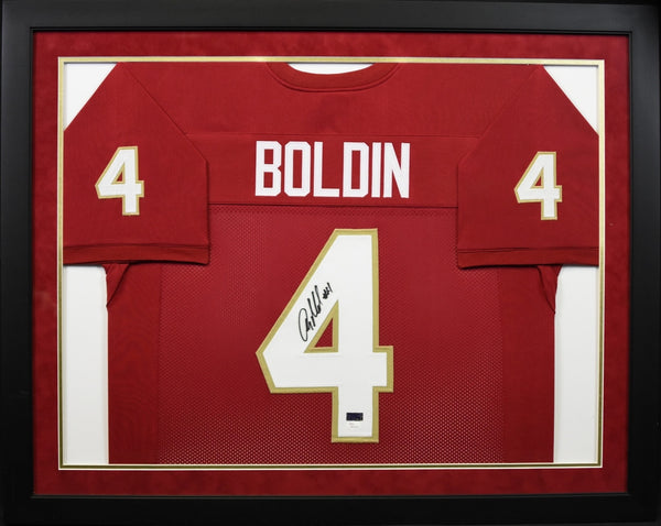 Anquan Boldin Autographed Florida State Seminoles #4 Framed Jersey