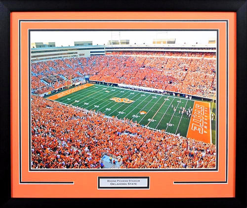 Oklahoma State Cowboys Boone Pickens Stadium 16x20 Framed Photograph