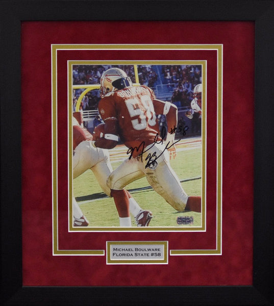 Michael Boulware Autographed Florida State Seminoles 8x10 Framed Photograph