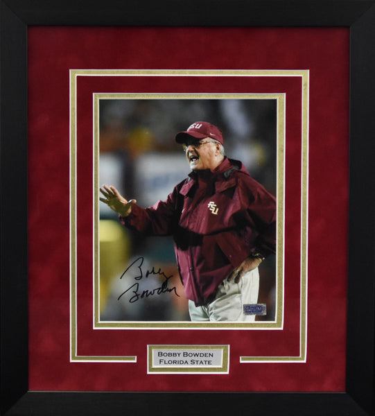 Bobby Bowden Autographed Florida State Seminoles 8x10 Framed Photograph - Solo