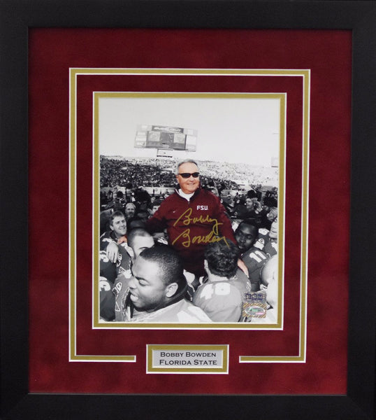Bobby Bowden Autographed Florida State Seminoles 8x10 Framed Photograph - Spotlight