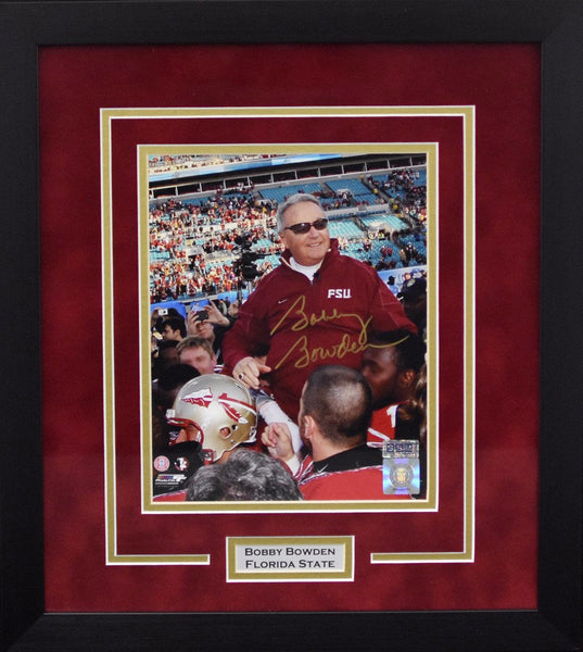 Bobby Bowden Autographed Florida State Seminoles 8x10 Framed Photograph - Final Game