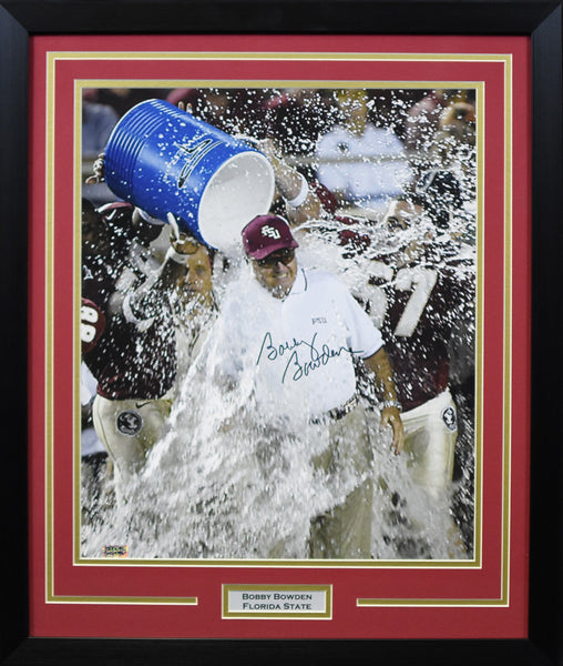 Bobby Bowden Autographed Florida State Seminoles 16x20 Framed Photograph - Gatorade