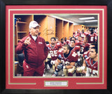 Bobby Bowden Autographed Florida State Seminoles 16x20 Framed Photograph - Locker