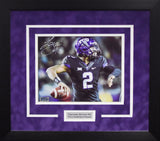 Trevone Boykin Autographed TCU Horned Frogs 8x10 Framed Photograph (Passing)
