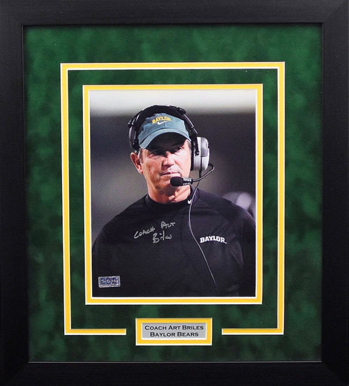 Art Briles Autographed Baylor Bears 8x10 Framed Photograph