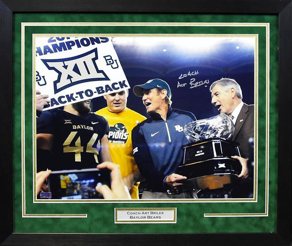 Art Briles Autographed Baylor Bears 16x20 Framed Photograph