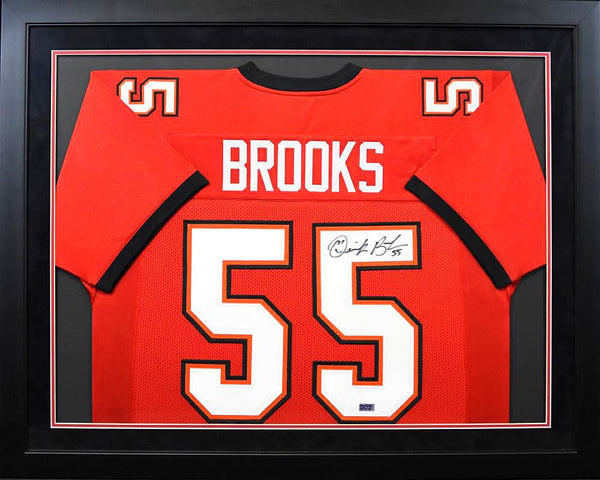 Derrick Brooks Autographed Tampa Bay Buccaneers #55 Framed Jersey