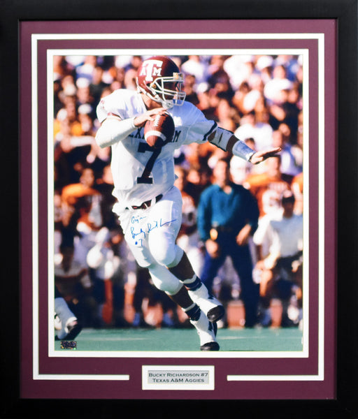 Bucky Richardson Autographed Texas A&M Aggies 16x20 Framed Photograph (Cotton Bowl)