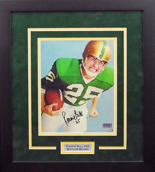 Ronnie Bull Autographed Baylor Bears 8x10 Framed Photograph (Color)