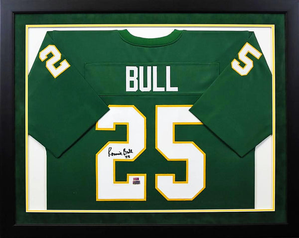 Ronnie Bull Autographed Baylor Bears #25 Framed Jersey