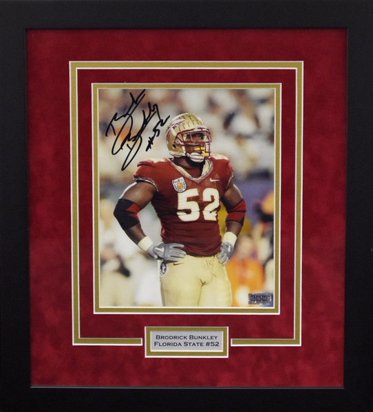 Brodrick Bunkley Autographed Florida State Seminoles 8x10 Framed Photograph