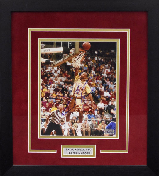 Sam Cassell Autographed Florida State Seminoles 8x10 Framed Photograph
