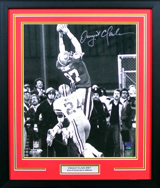 Dwight Clark Autographed San Francisco 49ers 16x20 Framed Photograph