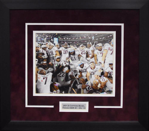 Texas A&M Aggies 2013 Cotton Bowl Team 8x10 Framed Photograph