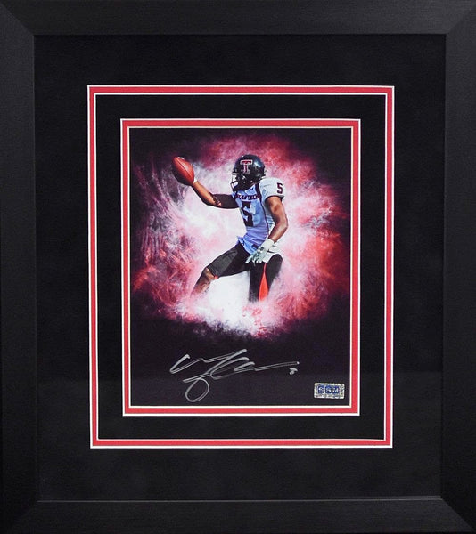 Michael Crabtree Autographed Texas Tech Red Raiders 8x10 Framed Photograph (Custom)