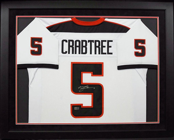 Michael Crabtree Autographed Texas Tech Red Raiders #5 Framed Jersey