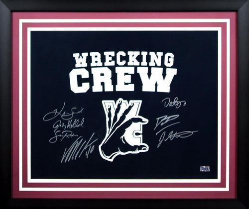 Wrecking Crew Autographed Texas A&M Aggies 16x20 Framed Photograph (Von Miller, Dat Nguyen and 5 others)