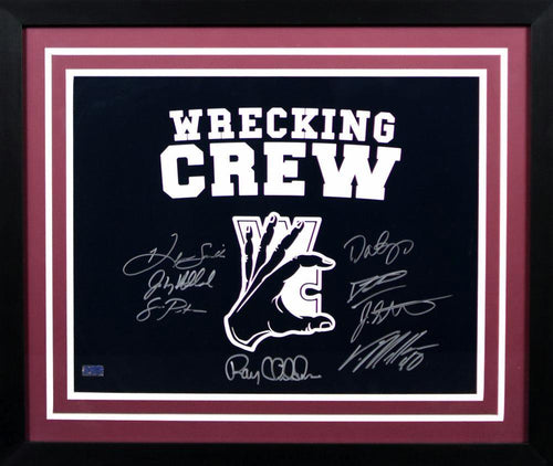 Wrecking Crew Autographed Texas A&M Aggies 16x20 Framed Photograph (Von Miller, Dat Nguyen and 6 others)