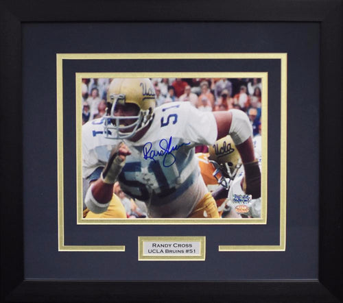 Randy Cross Autographed UCLA Bruins 8x10 Framed Photograph