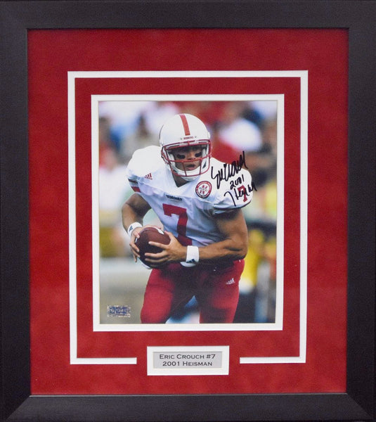 Eric Crouch Autographed Nebraska Cornhuskers 8x10 Framed Photograph (Solo)