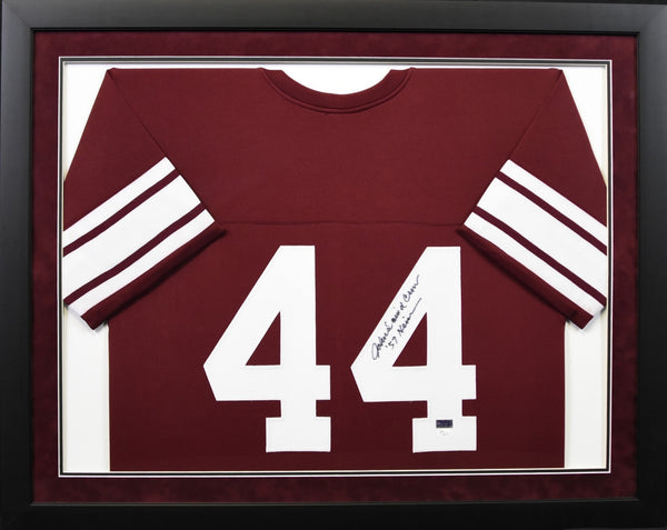 John David Crow Autographed Texas A&M Aggies #44 Framed Jersey