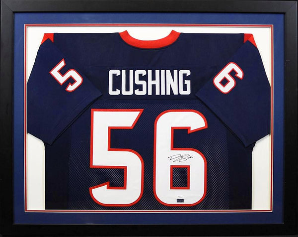Brian Cushing Autographed Houston Texans #56 Framed Jersey