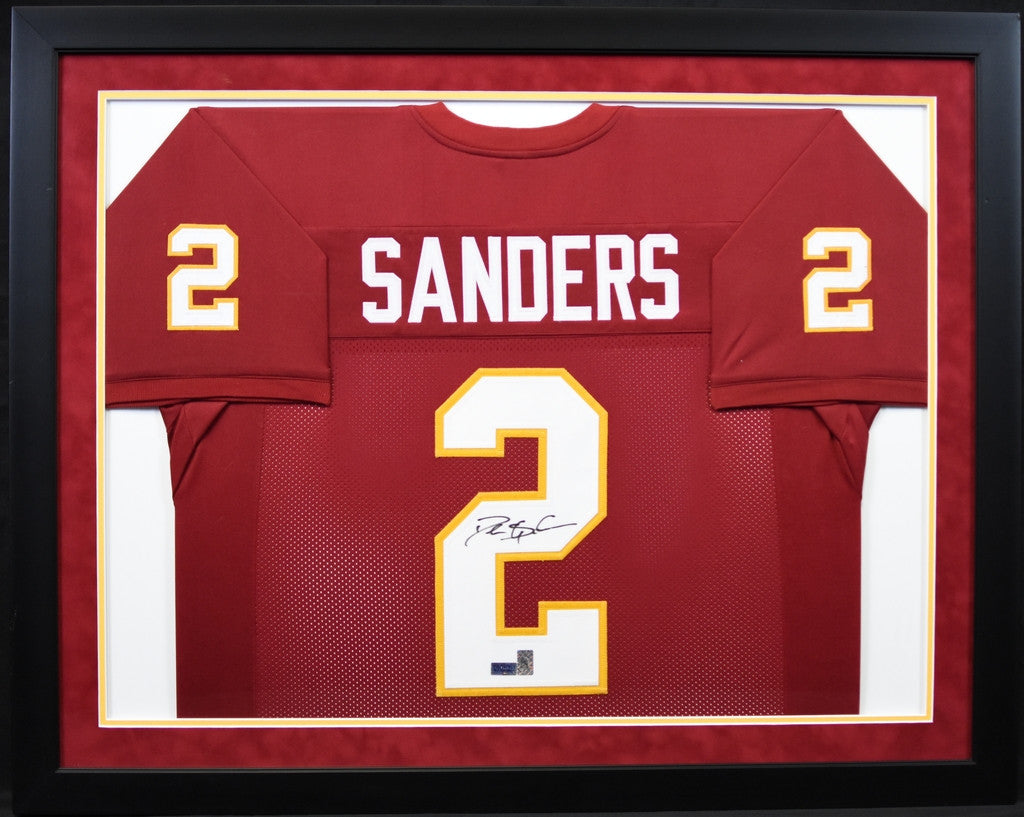 2596d90d4 ... where to buy deion sanders autographed florida state seminoles 2 framed  jersey 58c7c cee8b