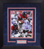 Deuce McAllister Autographed Ole Miss Rebels 8x10 Framed Photograph (Vertical)