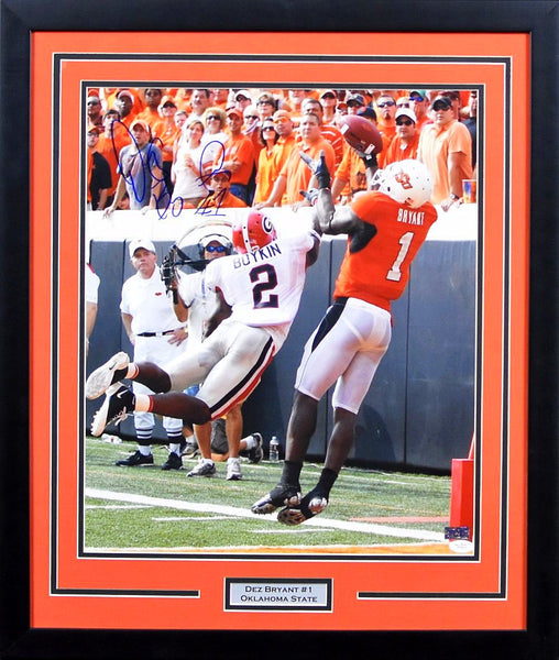 Dez Bryant Autographed Oklahoma State Cowboys 16x20 Framed Photograph (vs Georgia)