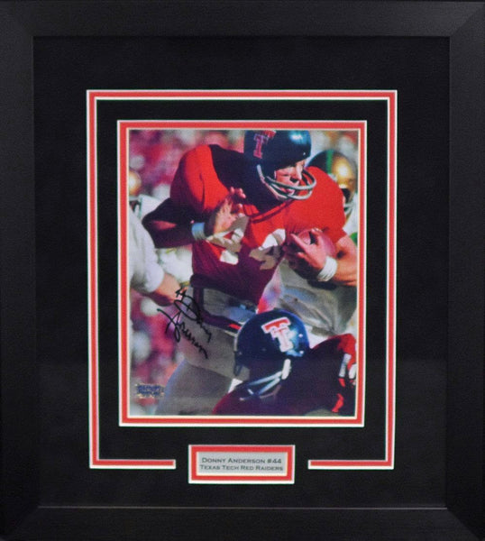 Donny Anderson Autographed Texas Tech Red Raiders 8x10 Framed Photograph (Running)