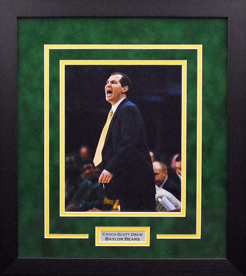 Scott Drew Baylor Bears 8x10 Framed Photograph