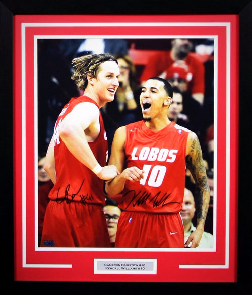 Cameron Bairstow & Kendall Williams Autographed New Mexico Lobos 16x20 Framed Photograph